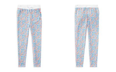 Ralph Lauren Childrenswer Girls' Terry Floral Pants - Big Kid - Bloomingdale's_2