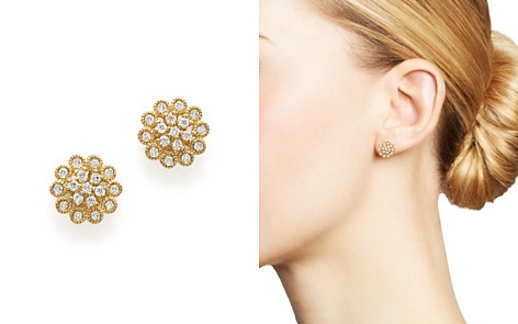 Bloomingdale's Diamond Flower Earrings in 14K Yellow Gold, 0.33 ct. t.w. - 100% Exclusive _2