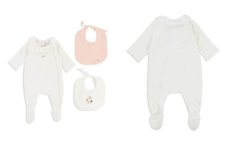 Chloé Girls' Footie & Bib Essential Set - Baby - Bloomingdale's_2