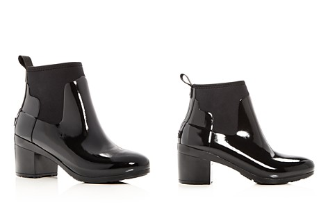 Hunter Women's Refined Gloss Mid Block Heel Rain Booties - Bloomingdale's_2