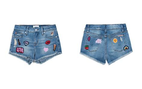 Hudson Girls' Distressed Patch Denim Shorts - Little Kid - Bloomingdale's_2