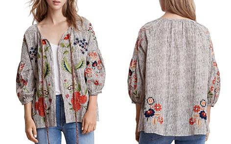 Velvet by Graham & Spencer Delfina Embroidered Striped Jacket - Bloomingdale's_2