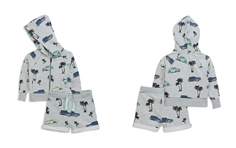 Sovereign Code Boys' Tropical Vintage Car Print French Terry Zip-Up Hoodie & Shorts Set - Baby - Bloomingdale's_2