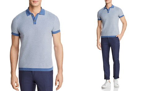 The Men's Store at Bloomingdale's Cotton Two Tone Regular Fit Polo Sweater - 100% Exclusive_2