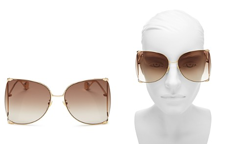 Gucci Women's Oversized Fork Butterfly Sunglasses, 63mm - Bloomingdale's_2