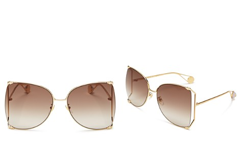 Gucci Oversized Fork Butterfly Sunglasses, 63mm - Bloomingdale's_2
