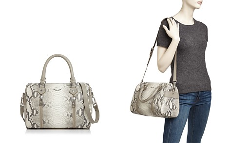 Zadig & Voltaire Sunny Small Python-Embossed-Leather Satchel - Bloomingdale's_2