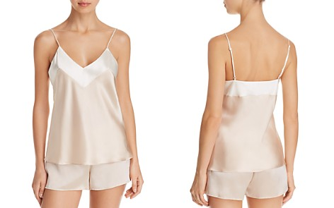 GINIA Two-Tone Silk Cami & Boxer Shorts - Bloomingdale's_2
