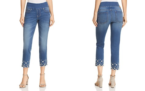 JAG Jeans Lewis Straight Floral Embroidered Ankle Jeans in Skydive - Bloomingdale's_2