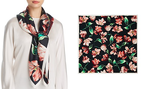 Echo Buckingham Tulip Print Silk Square Scarf - Bloomingdale's_2