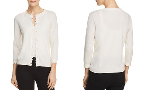 kate spade new york Scalloped Trim Cardigan - Bloomingdale's_2