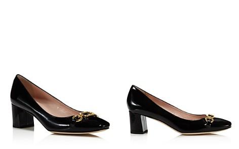 kate spade new york Women's Dillian Patent Leather Block Heel Pumps - Bloomingdale's_2