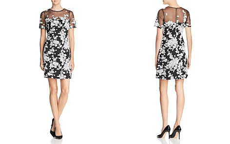 Tadashi Shoji Embroidered Illusion Dress - Bloomingdale's_2
