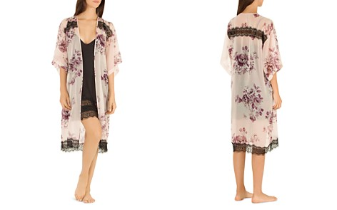 Midnight Bakery Sheer Floral Open-Front Kimono - Bloomingdale's_2