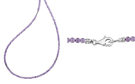 "LAGOS Sterling Silver Caviar Icon Amethyst Five Station Strand Necklace, 34"" - Bloomingdale's_2"