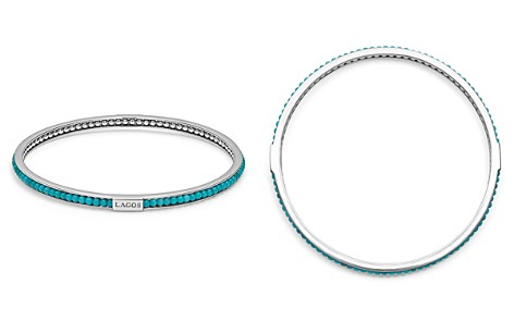 LAGOS Sterling Silver Caviar Icon Turquoise Beaded Bangle Bracelet - Bloomingdale's_2