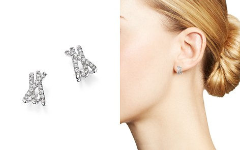 Bloomingdale's Diamond Crossover Earrings in 14K White Gold, 0.25 ct. t.w. - 100% Exclusive _2
