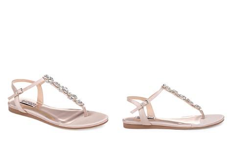 Badgley Mischka Women's Sissi Embellished Satin T-Strap Sandals - Bloomingdale's_2