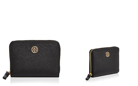 Tory Burch Robinson Leather Zip Coin Case - Bloomingdale's_2