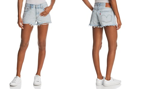 Levi's 501® Denim Shorts in Bleached Authentic - Bloomingdale's_2