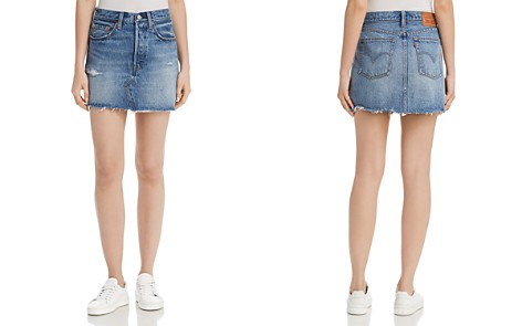 Levi's Deconstructed Denim Mini Skirt in Hole in One - Bloomingdale's_2
