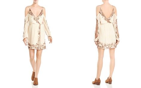 Haute Hippie Love and Other Disasters Cold-Shoulder Silk Dress - Bloomingdale's_2