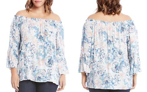 Karen Kane Plus Floral-Print Off-The-Shoulder Top - Bloomingdale's_2