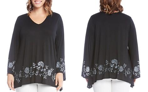Karen Kane Plus Bell Sleeve Floral Print Top - Bloomingdale's_2
