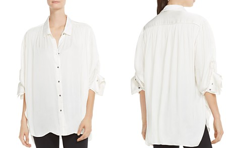 HALSTON HERITAGE Ruched Button-Down Shirt - Bloomingdale's_2