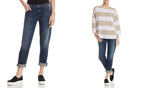 Eileen Fisher Cropped Boyfriend Jeans in Aged Indigo - Bloomingdale's_2