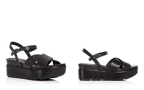 Eileen Fisher Women's Juno Leather Crisscross Platform Sandals - Bloomingdale's_2