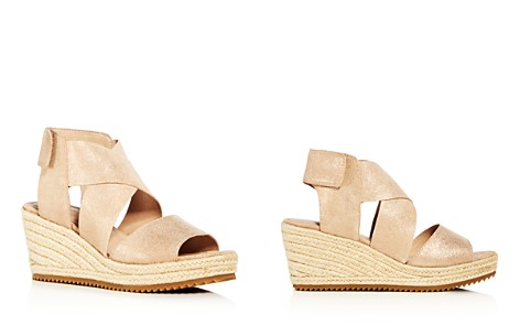 Eileen Fisher Women's Willow Nubuck Leather Platform Espadrille Sandals - Bloomingdale's_2