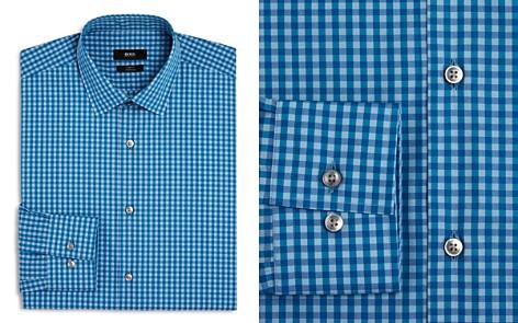 BOSS Checked Slim Fit Dress Shirt - Bloomingdale's_2