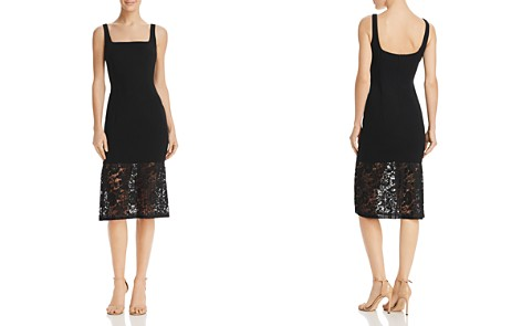 Black Halo Arabelle Lace-Hem Dress - Bloomingdale's_2