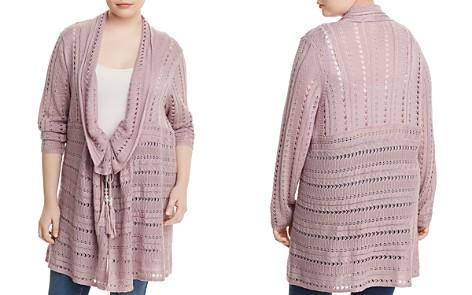 Love Scarlett Plus Long Open-Knit Cardigan - Bloomingdale's_2