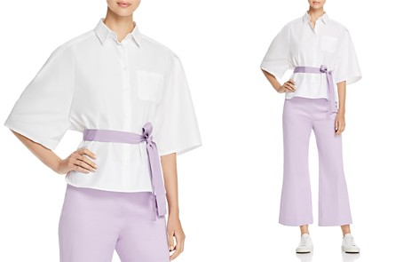 Weekend Max Mara Cerchio Belted Button-Down Shirt - Bloomingdale's_2