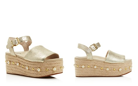 Kenneth Cole Women's Indra Leather Embellished Espadrille Platform Wedge Sandals - Bloomingdale's_2