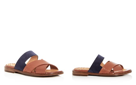 Chie Mihara Women's Wanda Leather & Suede Crisscross Slide Sandals - 100% Exclusive - Bloomingdale's_2