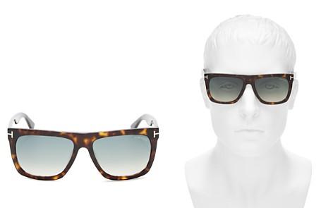 Tom Ford Morgan Flat Top Square Sunglasses, 55mm - Bloomingdale's_2
