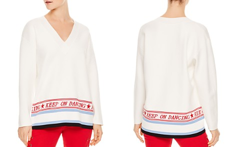 Sandro Domus Graphic V-Neck Sweater - Bloomingdale's_2