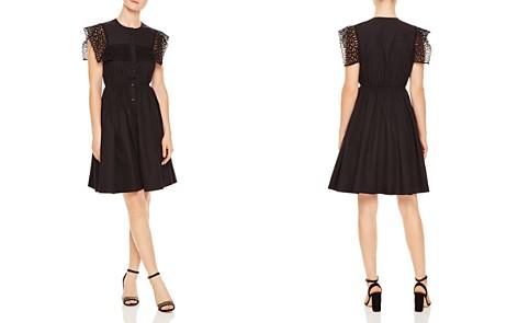 Sandro Lidwine Lace-Trimmed A-Line Dress - Bloomingdale's_2