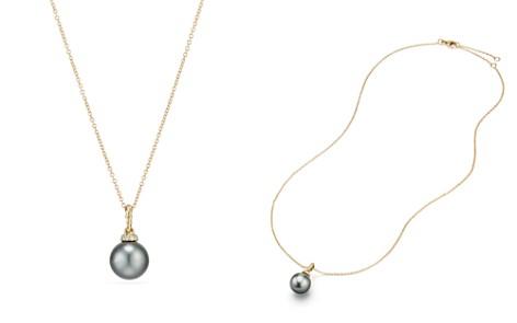 David Yurman Solari Pendant Necklace with Cultured Tahitian Gray Pearl & Diamonds in 18K Gold - Bloomingdale's_2