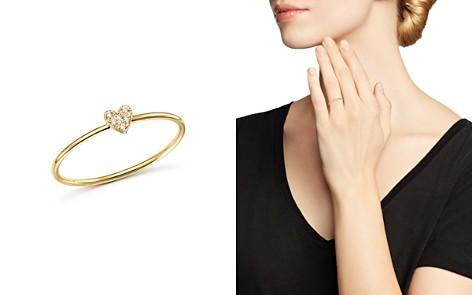 Zoë Chicco 14K Yellow Gold Tiny Diamond Heart Ring - Bloomingdale's_2