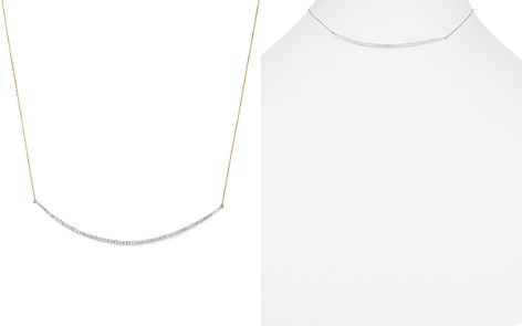 "Adina Reyter Sterling Silver & 14K Yellow Gold Pavé Diamond Curve Choker Necklace, 13"" - Bloomingdale's_2"