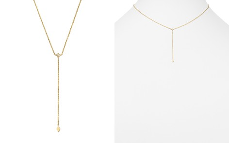 """Zoë Chicco 14K Yellow Gold Tiny Diamond Charm Y Necklace, 16"""" - Bloomingdale's_2"""