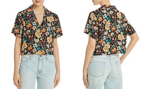 FRAME Mini Floral Short Sleeve Shirt - Bloomingdale's_2