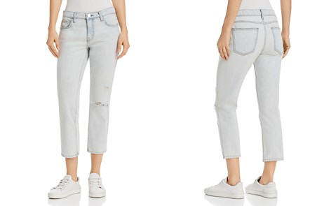 Current/Elliott The Cropped Straight-Leg Jeans in Channon Destroy - Bloomingdale's_2
