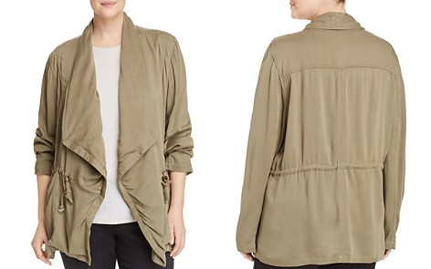 Bagatelle Plus Draped-Front Field Jacket - 100% Exclusive - Bloomingdale's_2