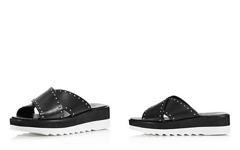 Charles David Women's Buxom Studded Leather Platform Slide Sandals - Bloomingdale's_2