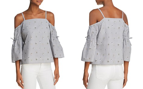Cooper & Ella Fay Cold-Shoulder Bow-Sleeve Top - Bloomingdale's_2